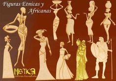 Figura Negras Africanas Etnica Racial Fibrofacil Madera Mdf ...