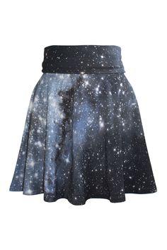 Hubble Galaxy Skater Dress Skirt, Galaxy Print Clothing, Shadowplaynyc
