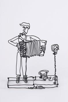 fil de fer accordéoniste