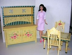 Dining Room Furniture Poppy Parker Barbie and Fashion Royalty Doll Size | eBay