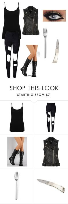 """""""Kace The Walking Dead"""" by be-moxish ❤ liked on Polyvore featuring M&Co, River Island and Menu"""