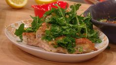 Bobby Flay makes a recipe from his new NYC restaurant, Gato: Blistered Tarragon Chicken with Crispy Potatoes. #whatsfordinner #chicken #tarragon #gato #nyc