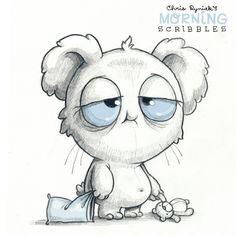 Chris Ryniak is creating Friendly Monster Drawings! Pencil Art Drawings, Cartoon Drawings, Animal Drawings, Easy Drawings, Cartoon Art, Drawing Sketches, Sick Drawings, Cute Monsters Drawings, Cartoon Monsters
