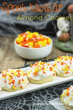 With just the basic recipe you can decorate these Almond Cookies for any holiday and event.