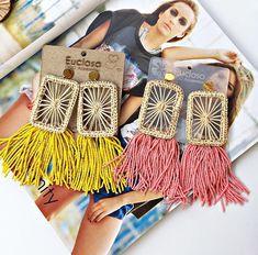 Bead Jewellery, Wire Jewelry, Beaded Jewelry, Jewelery, Handmade Jewelry, Diy Lace Earrings, Diy Necklace, Crochet Earrings, Fashion Earrings
