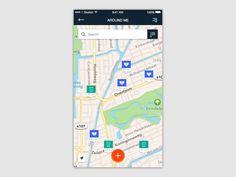 Traveller App | Map screen