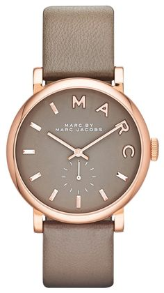 The combination of grey and rose gold is a lovely twist on this classic and elegant Marc Jacobs watch.