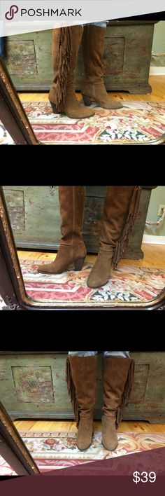 Steve Madden suede boots W sz. 9.5 M Steve Madden suede leather boots. Women's sz. 9.5 M. Gently used good condition. Very Boho Chic ! Steve Madden Shoes Heeled Boots
