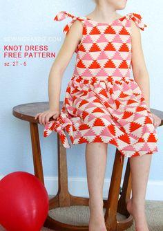 Knot Dress Free Pattern, sizes 2T thru 6T