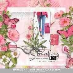 Vintage Artistry Blush | Katie Pertiet Digital Scrapbooking, Blush, Vintage, Rouge, Blushes, Vintage Comics, Primitive