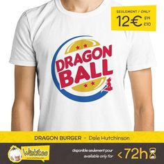 "(EN) ""Dragon Burger"" designed by the astounding Dale Hutchinson is our NEW T-SHIRT. Available 72 hours order yours today for only 12/$14/10 on WWW.WISTITEE.COM (FR) ""Dragon Burger"" créé par l'incroyable Dale Hutchinson est notre NOUVEAU T-SHIRT. Disponible 72 heures réservez-le dès maintenant pour seulement 12 sur WWW.WISTITEE.COM  #SonGoku #Goku #DragonBall #hamburger #saiyan #Sangoku #Kakarot #BurgerKing #logo #nimbus #NuageMagique #DaleHutchinson #wistitee #design #tshirt #limitededition…"