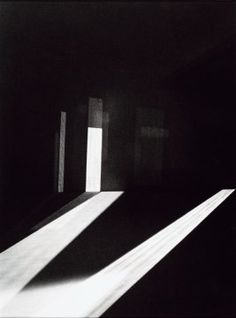 James Turrell - Mendota Stoppages, 1969. Black and white photograph.
