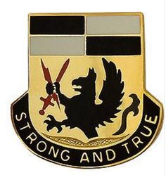Special Troops Battalion, 4th Brigade Combat Team, 4th Infantry Division Unit Crest (Strong and True)
