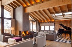 Chalet Les Anges, a luxury 7 bedroom ski chalet in The Alps. Click or call to book this chalet today with Exceptional Villas for the Best Rates Guaranteed. Modern Mountain Home, Mountain Homes, Chalet Interior, Ski Chalet, Zermatt, Fireplace Design, Luxury Villa, Home Decor, Furniture