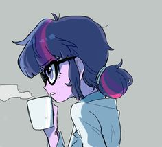 Twilight looks adorable and smart with her hair like that! <3