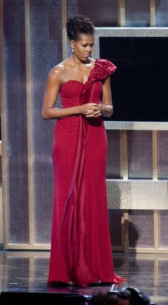 Wearing J. Mendel at the BET Honors in 2012. | The 30 Most Magnificent Gowns Michelle Obama Wore While in the White House | POPSUGAR Fashion