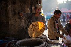 Naan bread shop,Hotan on Flickr.