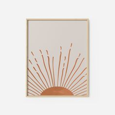 Hand Drawn Sun Printable Wall Art Rising Sun Art, Minimalistic Modern Boho Art Print Minimal Poster Print Burnt Orange Decor, - General Home Style Ideas Art Inspo, Kunst Inspo, Art Soleil, Burnt Orange Decor, Burnt Orange Bedroom, Orange Orange, Illustration Design Graphique, Ouvrages D'art, Sun Art