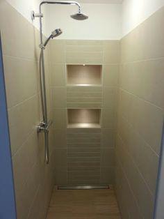 glass accent tile shower designs vertical tile design idea ideas for the house pinterest. Black Bedroom Furniture Sets. Home Design Ideas