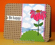 Be Happy Card by Anne Gaal of Gaal Creative at http://www.gaalcreative.com - Feel free to re-pin! ♥