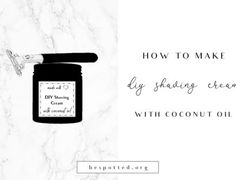 The best coconut oil shaving cream recipe. Learn how to make this amazing DIY shaving cream. It is just the right consistency, nourishing and Diy Hair Moisturizer, Natural Moisturizer, Matcha Face Mask, Diy Lip Plumper, Japanese Beauty Secrets, Jasmine Essential Oil, Essential Oils, Best Coconut Oil
