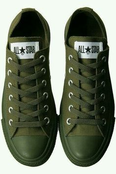 buy popular e073b 21c6a Olive Green Converse, Olive Green Sneakers, Cute Shoes, Converse