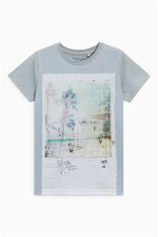 Buy Grey Beach Scene T-Shirt from the Next UK online shop Trans Boys, Kids Graphics, Beach Scenes, Boys T Shirts, Next Uk, Uk Online, Polo Shirt, Prints, Mens Tops