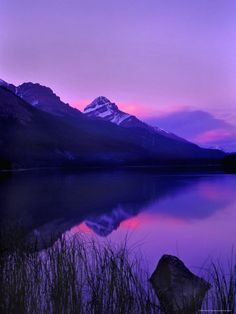 Sunset along Icefields Parkway, Banff Alberta, Canada. Photo by...?