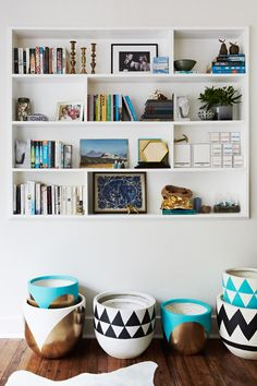 Alana's own home as featured on The Glitter Guide. Styling by Alana, photography by Annette O'Brien - Absolutely love these pots!