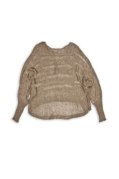 Dolman High/Low Sequin sweater