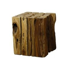 Woody Branches CubeThis Woody Branches Cube is inspired from forest themes and offers a unique take on the traditional ottoman. Bring some rustic style to your living space with this stool crafted from entire sections of a tree and use it as a small side table or foot rest. Either way, this piece is a great fit for any room as an accent piece. - Found at myWebRoom.com