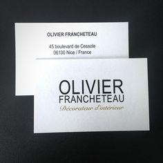 Une carte élégante !  Un papier offset noble 600 gr avec marquage de deux pantone. #cartedevisite #offsetnoble #sensoprint