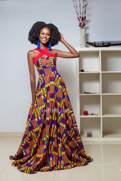 African clothing and Ankara dresses for women all over the world. African Attire, African Wear, African Dress, African Clothes, African Prom Dresses, African Fashion Dresses, Fashion Outfits, Fashion Ideas, African Outfits