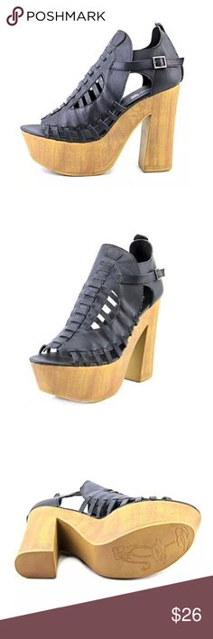 🆕 Platform Sandals New In Box! Fashion magic is possible in this retro platform sandal. Penny Loves Kenny features a black synthetic leather with straps and cut outs. A 5 1/2 inch chunky block heel pairs with a 2 inch platform for maximum height. Size 8. Retail $89.99 Penny Loves Kenny Shoes Platforms