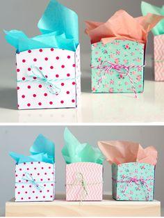 DIY Mini Paper Baskets | 40 DIY Gift Basket Ideas for Christmas | Handmade Gift Ideas for Christmas