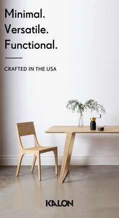 Minimal in spirit. Versatile in use. Built by master craftsmen in the USA from pure, natural materials. The Isometric Collection by Kalon.