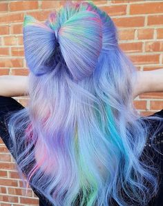 See here the most amazing and cute ideas of unique bow bun hairstyles to create in Learn through this post how to make this beautiful bun style for attractive hair looks in Pretty Hair Color, Beautiful Hair Color, Hair Color Purple, Hair Dye Colors, Unicorn Hair Color, Bright Hair, Pastel Hair, Pretty Hairstyles, Summer Hairstyles