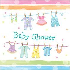 """""""Babyclothes Babyshower"""" lunch servetten"""