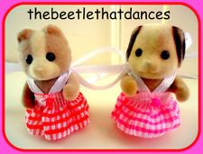 Sylvanian Families Clothes 2 NEW dresses for Baby Girl, Standing Or Crawling