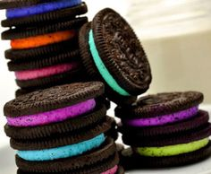 neon oreos. (I dont recall these colours...but I remember at one point in time there being neon ones!)#Repin By:Pinterest++ for iPad#