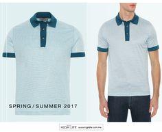 Con la distintiva textura moteada, esta camisa polo luce por su peculiar tono y su complexión perfecta para permitir la transpiración. #Canali