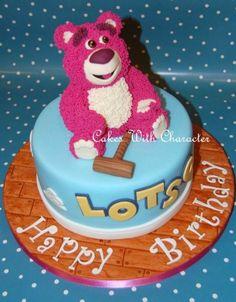 Lotso from Toy Story 3 cake Disney Themed Cakes, Disney Cakes, Disney Food, Foundant, Toy Story Cakes, Cake Wrecks, Cake Blog, Character Cakes, Bear Cakes