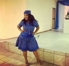 Recent shweshwe dress patterns, whichever you choose - Reny styles Zulu Traditional Attire, Sepedi Traditional Dresses, South African Traditional Dresses, Traditional Weddings, African Dresses For Women, African Fashion Dresses, African Attire, African Wear, African Style