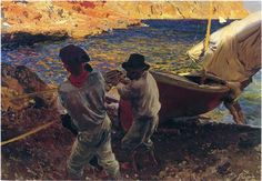End of the Day, Javea - Joaquín Sorolla