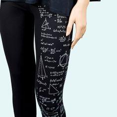 Lester Mates - Malla estampada con dibujos y formulas matemáticas. ¡Idea para maestras!