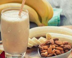 Easy Banana Almond Smoothie Burn Fat Build Muscle via Protein Smoothies, Fruit Smoothies, Almond Smoothie Recipe, Smoothies With Almond Milk, Homemade Protein Shakes, Protein Shake Recipes, Milk Shakes, Kombucha, Malt Milkshake