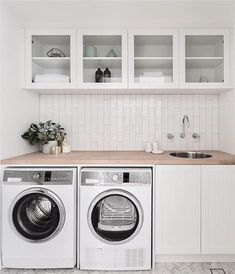 Best Laundry Room Decorating Ideas To Inspire You - Page 31 of 53 - VimDecor laundry room ideas, laundry room organization, laundry room design, laundry room decor Laundry Room Cabinets, Laundry Room Organization, Laundry In Bathroom, Basement Laundry, Laundry Closet, Diy Cabinets, Laundry Storage, Laundry Shelves, Laundry Room With Sink