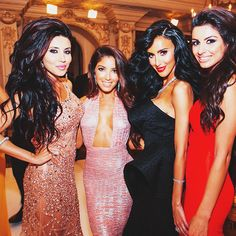 lily ghalichi and friends......they all have beautiful hair