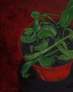 """Venus Flytrap"" painting by Patricia Thomas"