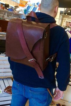 A personal favorite from my Etsy shop https://www.etsy.com/listing/504681036/leather-backpack-brown-backpack
